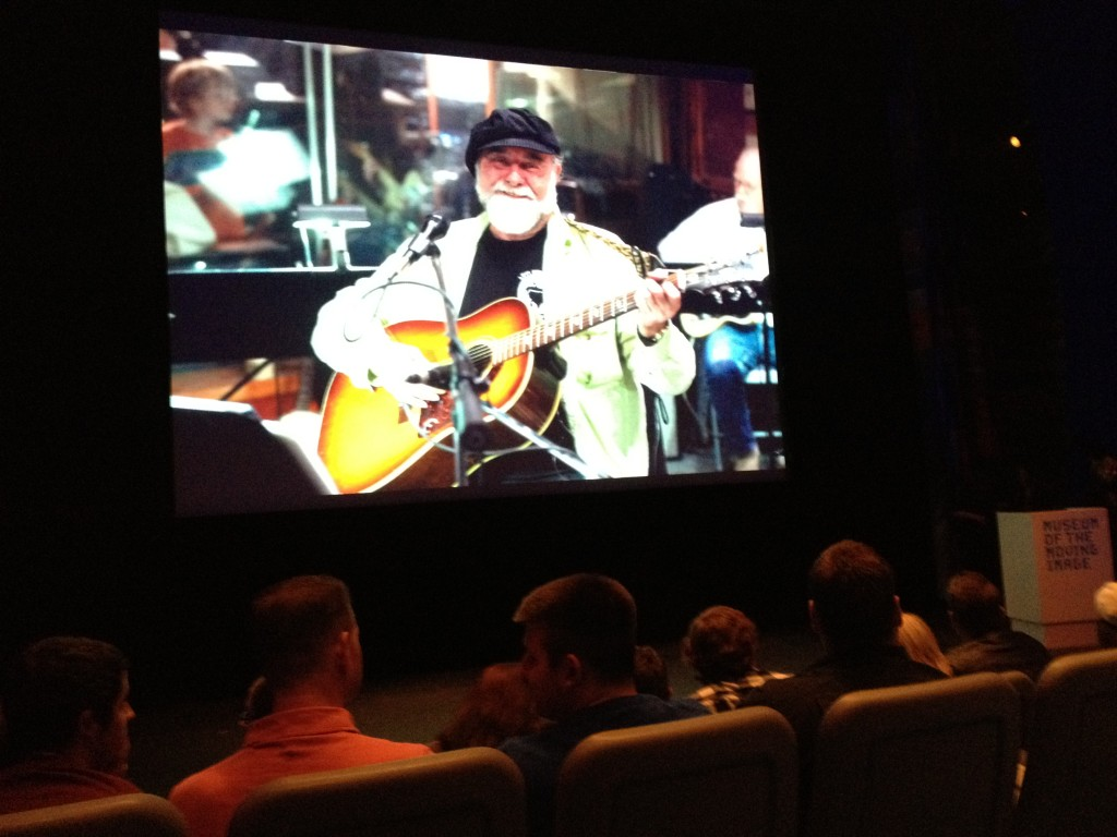 Jerry Nelson on the big screen. Also pictured: Dave Hulteen's and Ryan Dosier's heads.