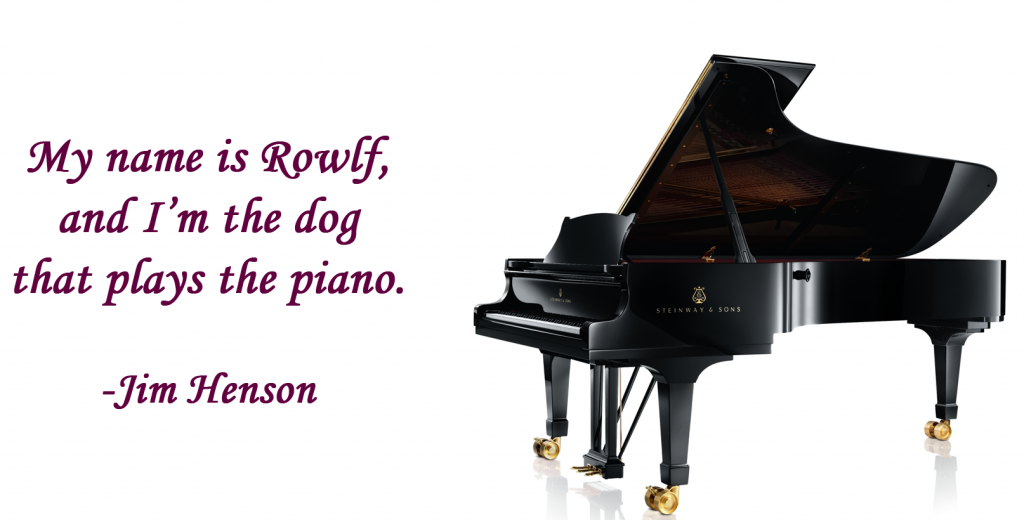 Rowlf plays piano