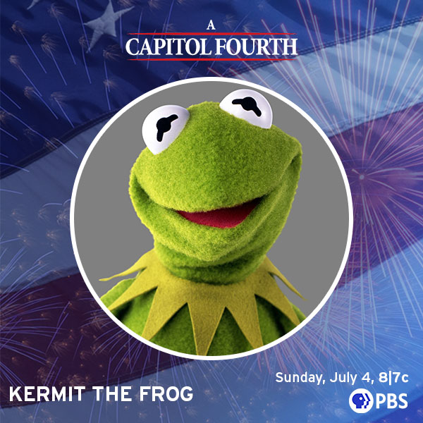 Kermit Joins PBS' A Capitol Fourth